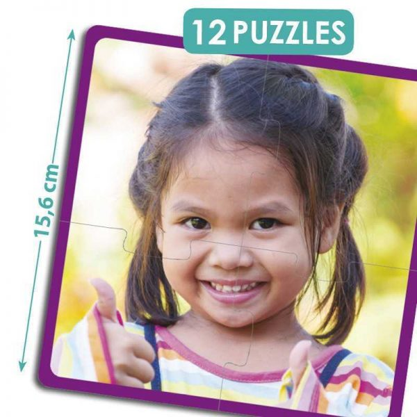 "set of 12 puzzles happy children of the world 600x600 - Puzzle ""Fröhliche Kinder"""