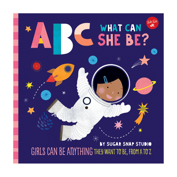 ABC what can she be cover  600x600 - ABC for Me: ABC What Can She Be?